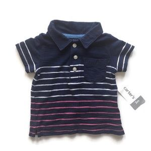 NWT 3M Carter's Striped Polo Shirt